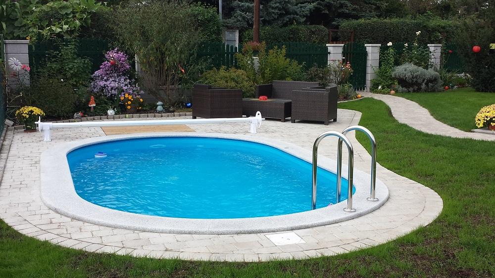 Einbau schwimmbecken oval miami cranpool for Schwimmbecken oval aufstellbecken