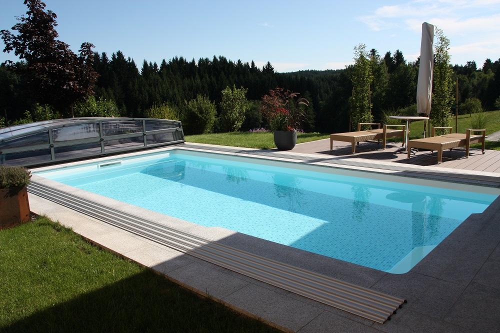 Stahlwandpool teilversenkt  Schwimmbeckenarten Einbau- Aufstell- Stahlwand | Cranpool