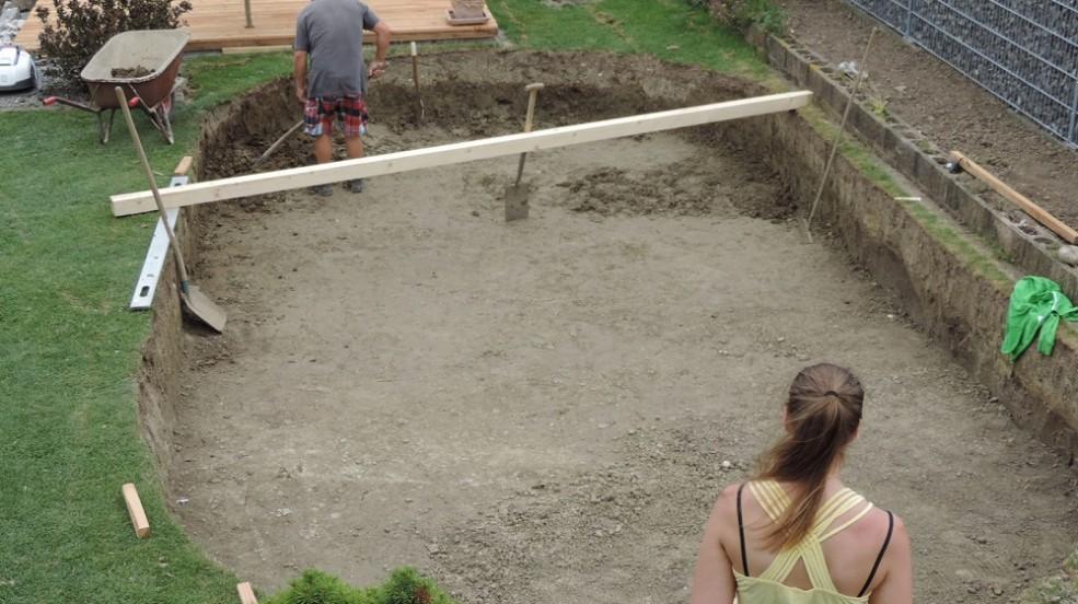 Montage und vorbereitung f r ihr pool cranpool for Stahlwandpool boden