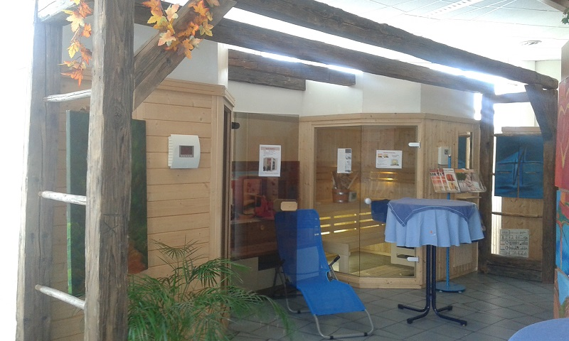 Saunabereich in der Filiale Wels nach der Renovierung.