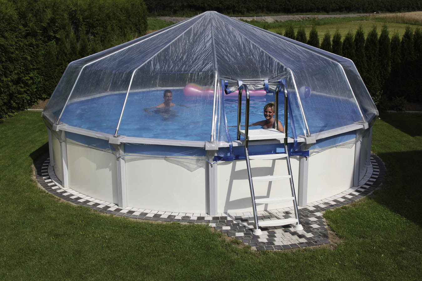 stahlwand schwimmbecken sun remo mit sonnendom cranpool. Black Bedroom Furniture Sets. Home Design Ideas