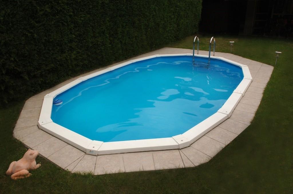 Stahlwand schwimmbecken riva der kleine pool f r den for Pool aufstellbecken oval