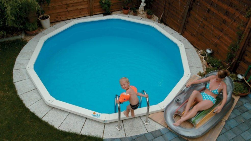 stahlwand-schwimmbecken riva | der kleine pool für den kleinen garten, Best garten ideen