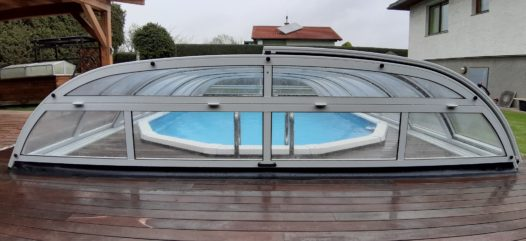 Cranpool Schwimmingpool Überdachung Dom typ Perfekt